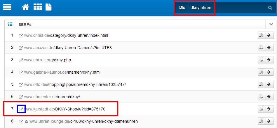 rankende URL auf Veränderung überprüfen