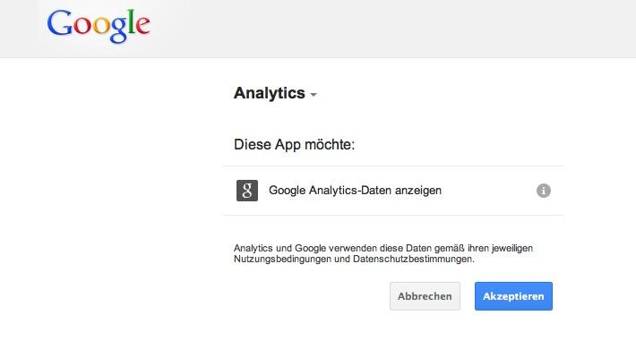 Google Analytics verknüpfen