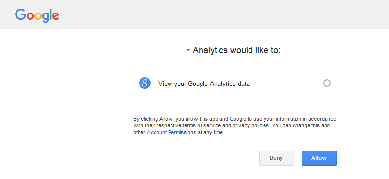 Connecting Google Analytics