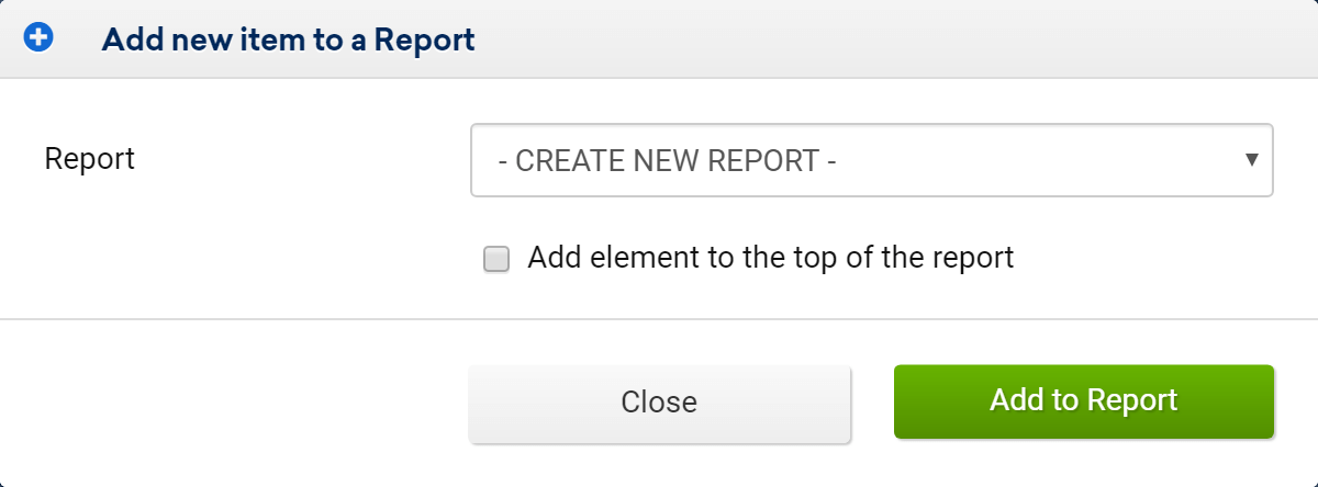Create new report in the SISTRIX Toolbox