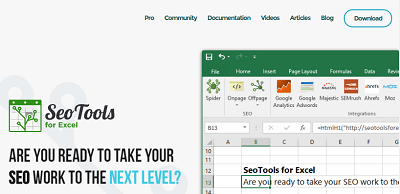 SEO Tools for Excel - Excel Addon