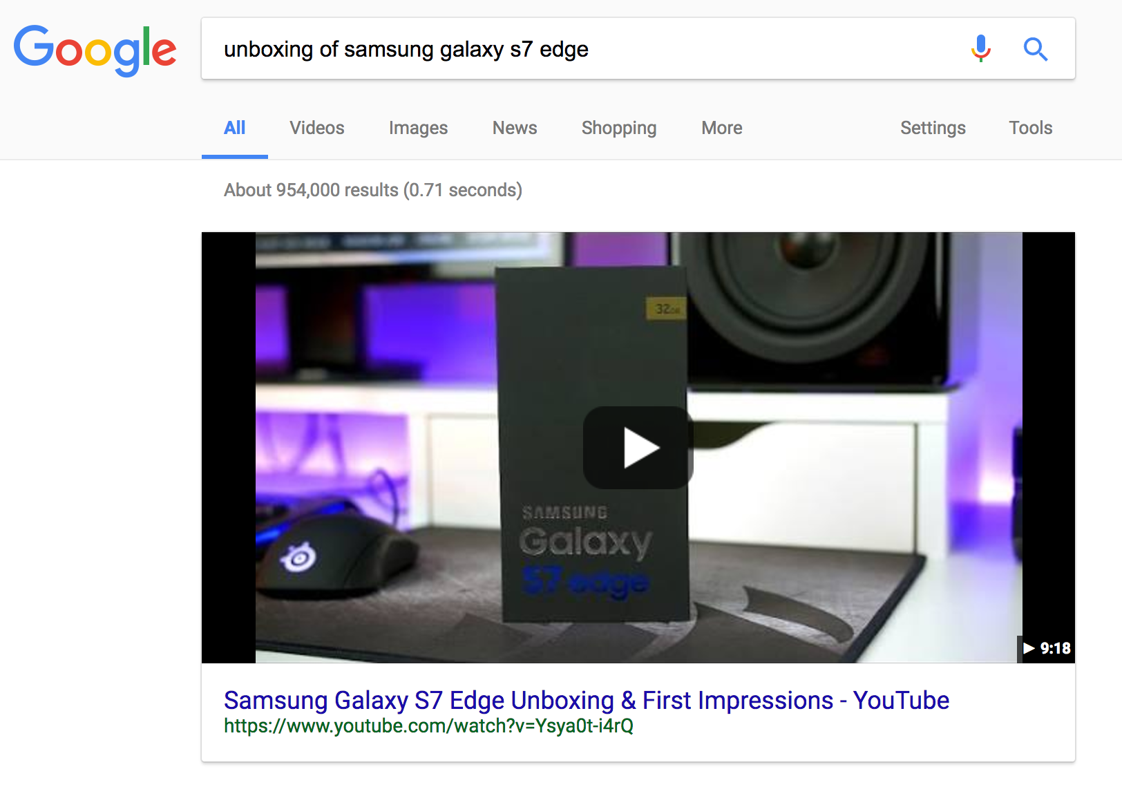 "Featured Snippet for the query ""unboxing of samsung galaxy s7 edge?"""