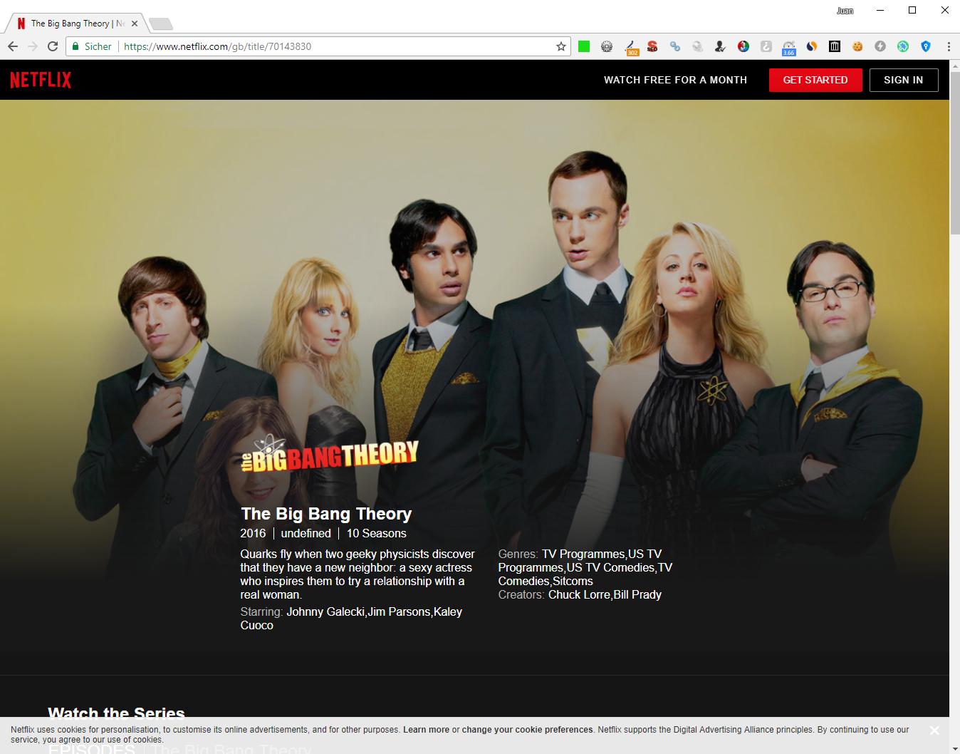 Netflix Big Bang Theory Sverige