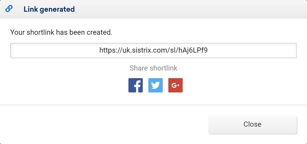 Shortlink in the Toolbox