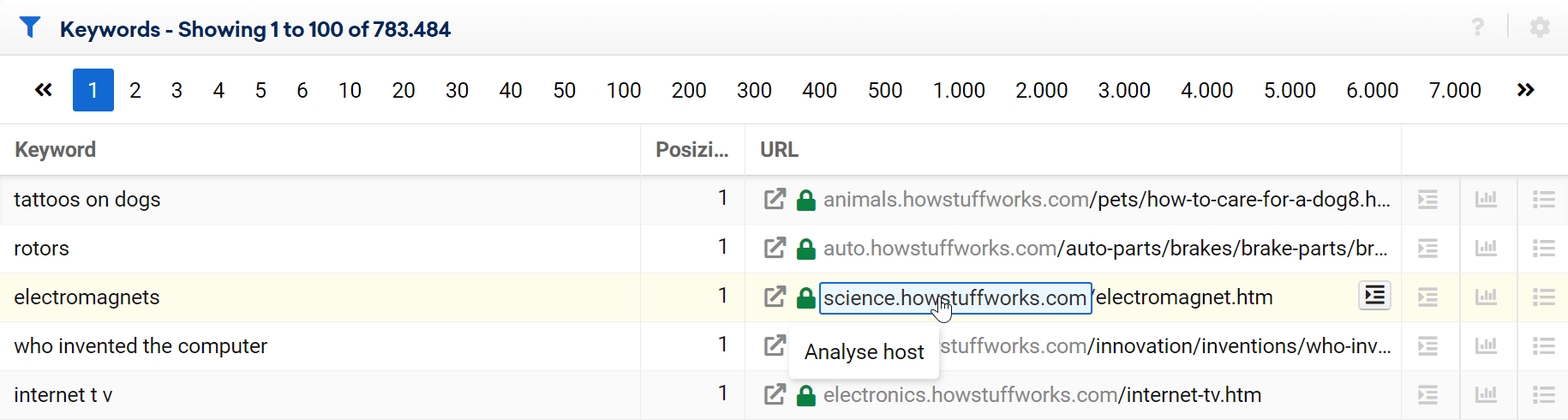 The Toolbox will highlight the part pf URL you can open and analyze