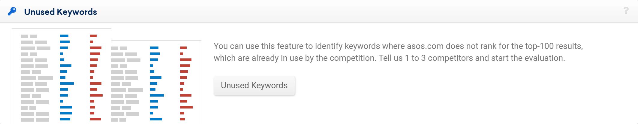 Feature Unused Keywords in the SISTRIX Toolbox