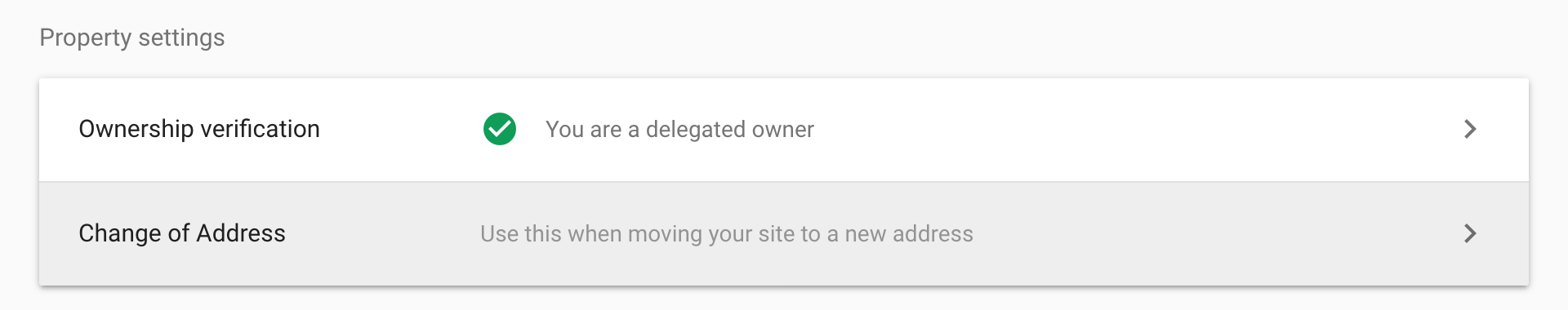 Address change of a domain in the Google Search Console