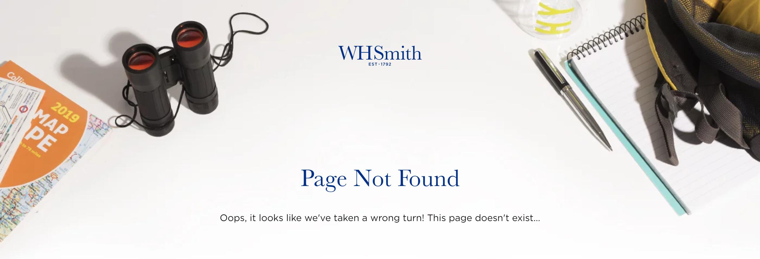 whsmith 404 page