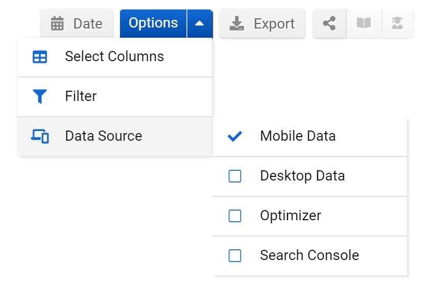 Keyword database selection
