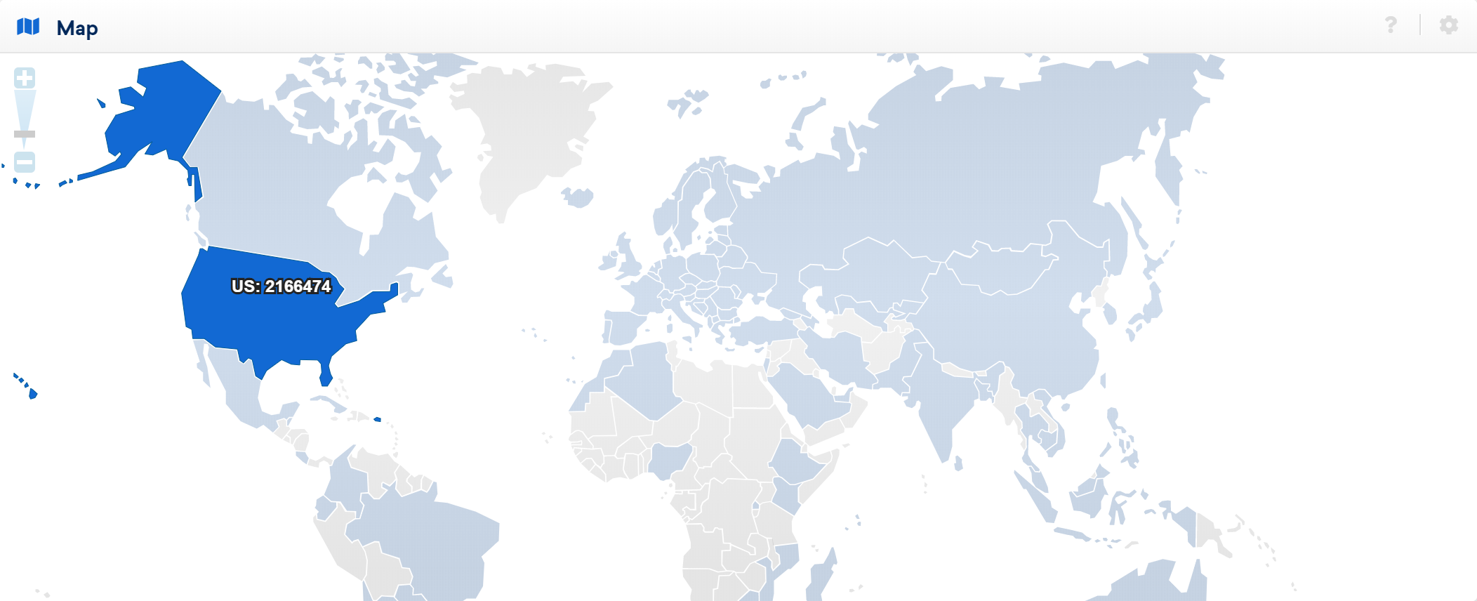 Map showing incoming links.