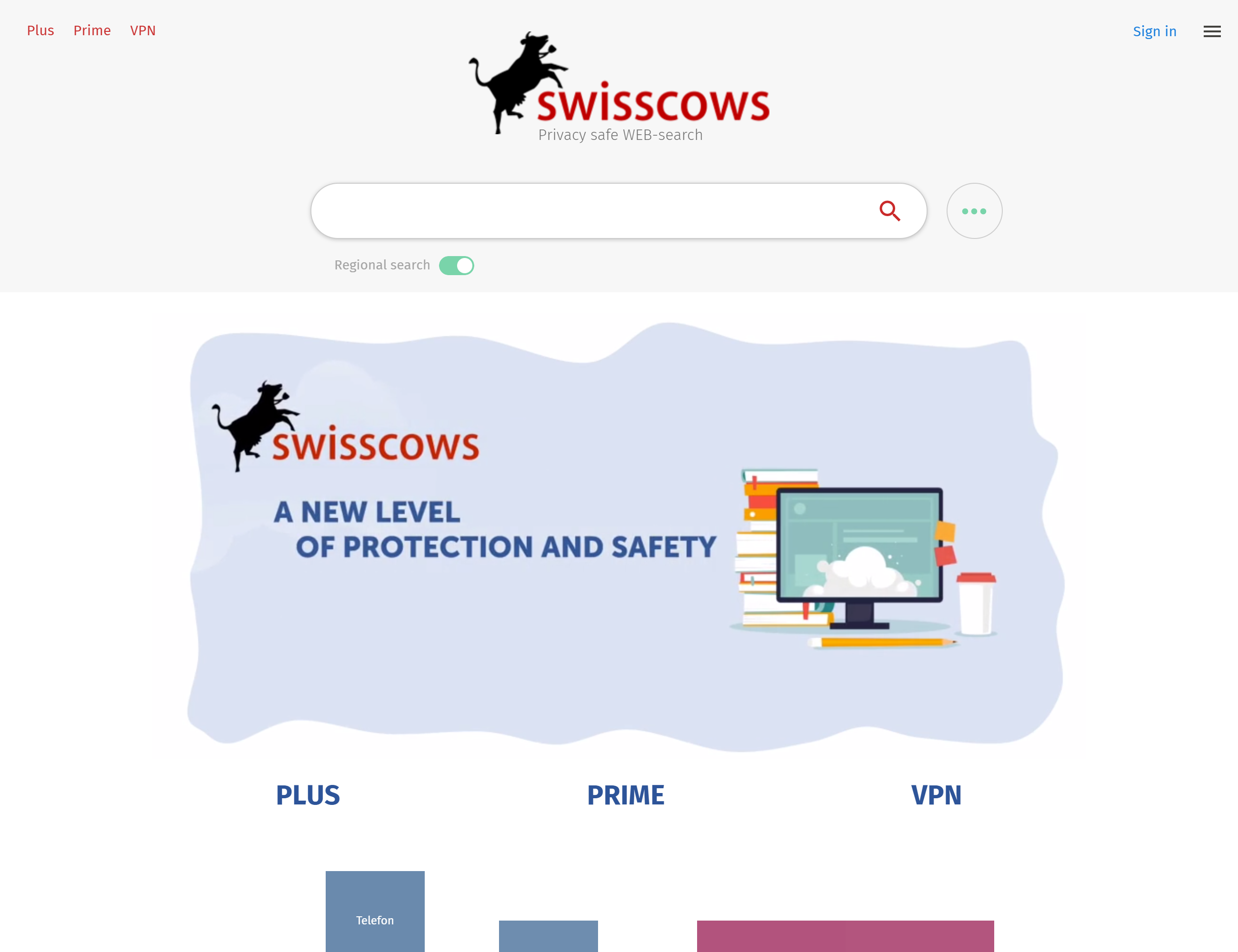 Swisscows browser