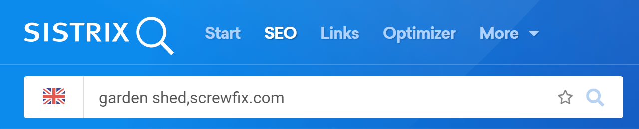 Write your domain and the keyword in the search bar to see its ranking history