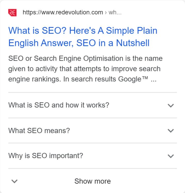 FAQ result