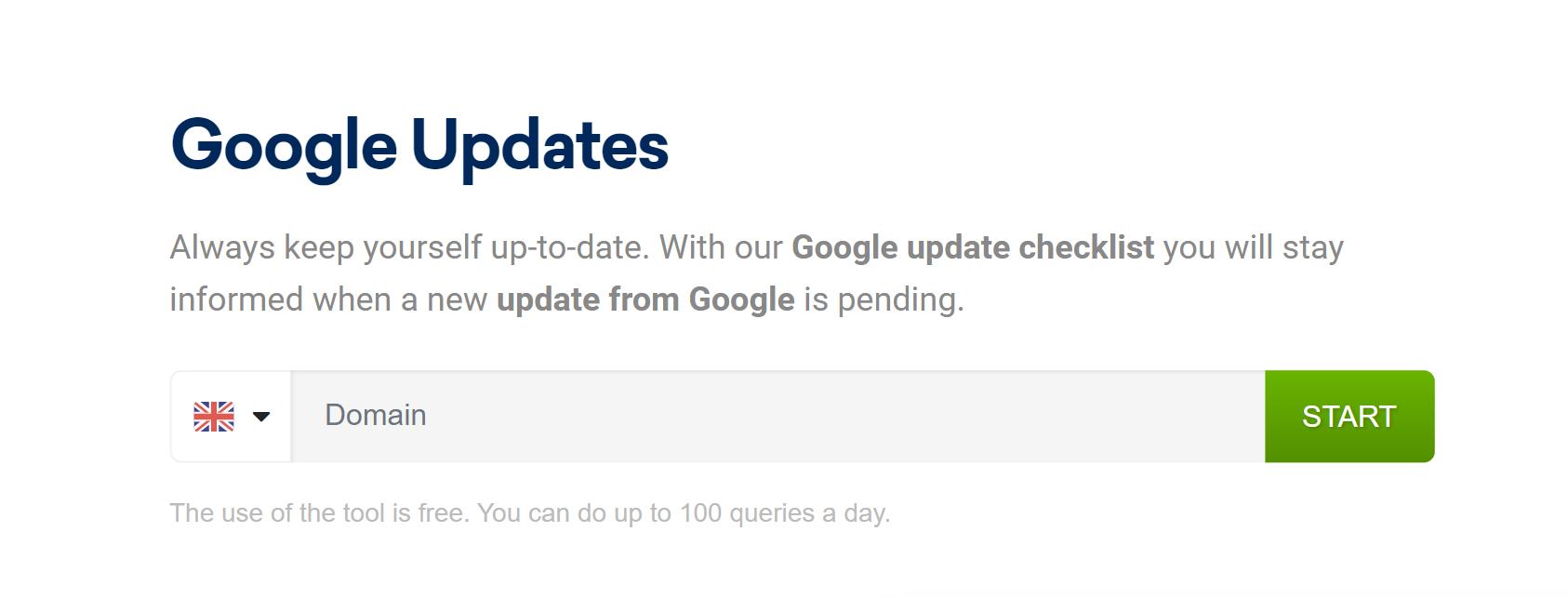 Google Update Check tool