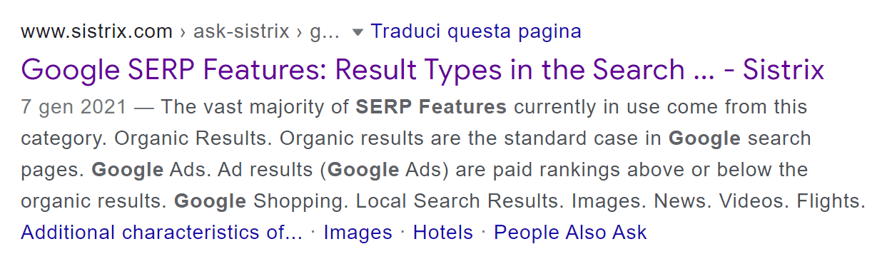 Cropped Title in the search results