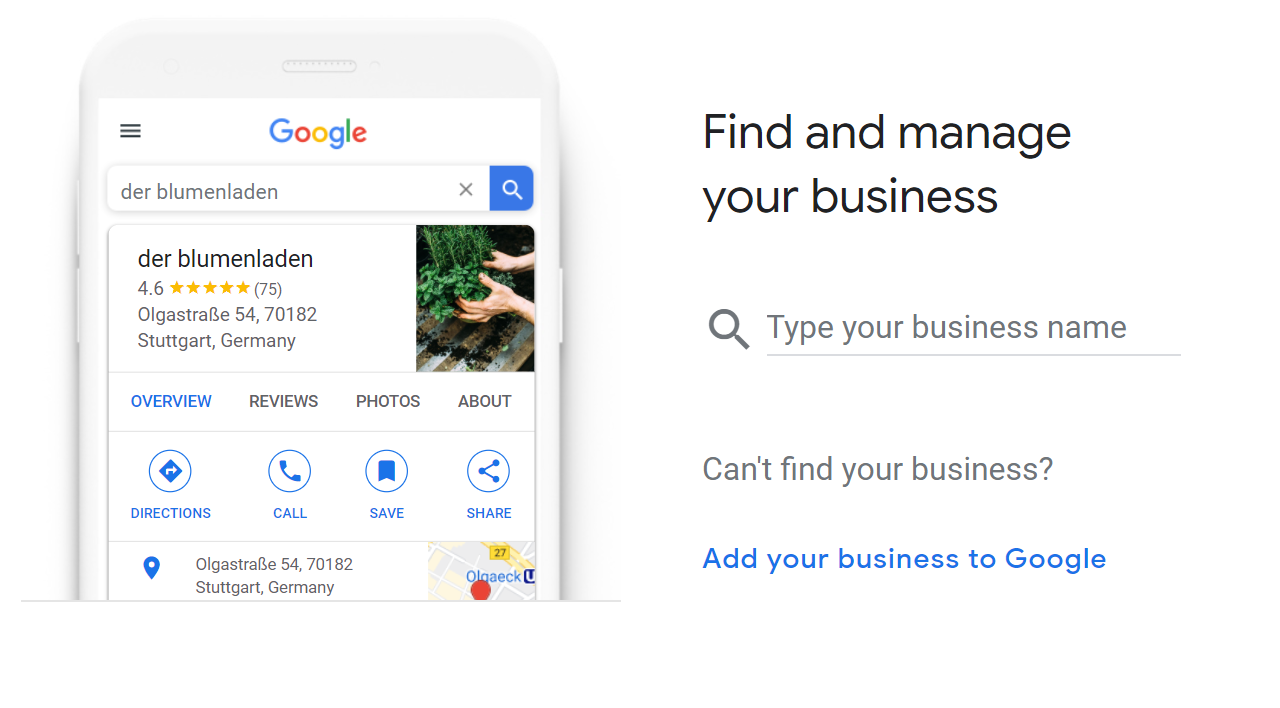 Adding a business in Google My Business