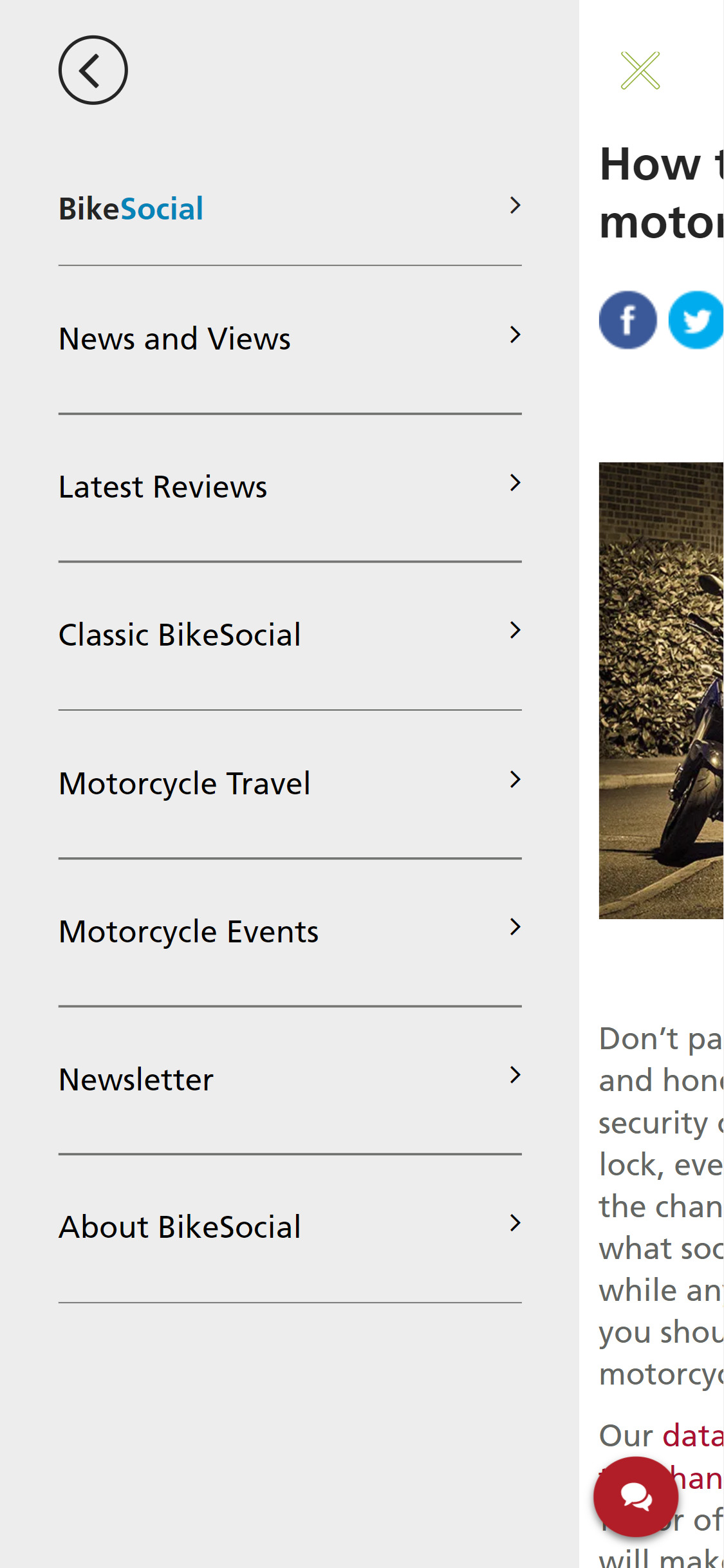 Bennetts BikeSocial content marketing page (example)