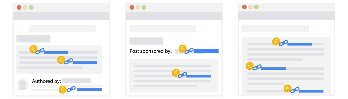 Attributes for sponsored links