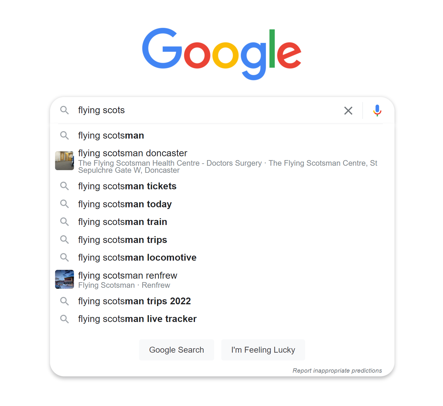 Google autocomplete example